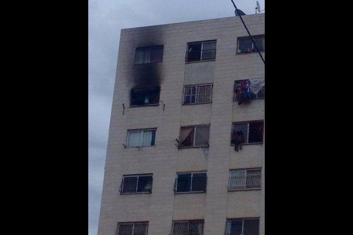 اندلاع حريق بأحد منازل نابلس
