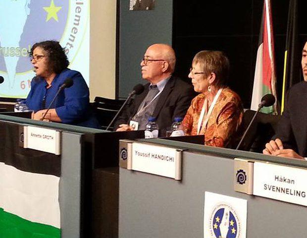 رأفت يشارك بالمؤتمر الأوروبي الأول حول مناهضة الاستيطان في بروكسل