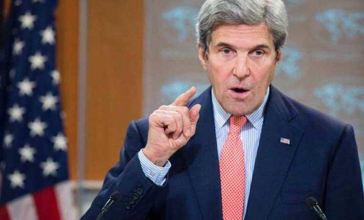 جون كيري: الحكومة الإسرائيلية لا تريد السلام مع الفلسطينيين