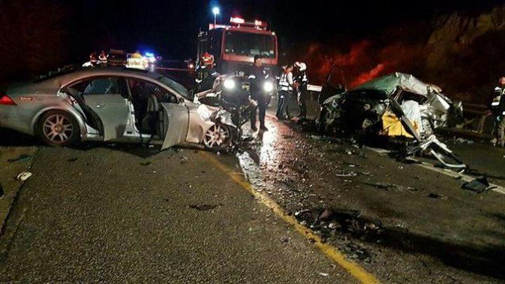 إصابة 5 إسرائيليين في حادث سير بالجليل