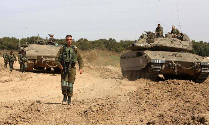 الاحتلال يحشد قواته على حدود قطاع غزة
