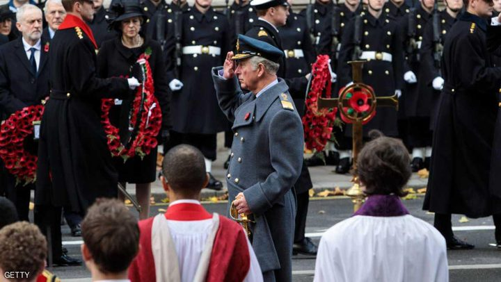 """الأمير تشارلز ينوب عن الملكة اليزابيث في """"يوم الذكرى"""""""
