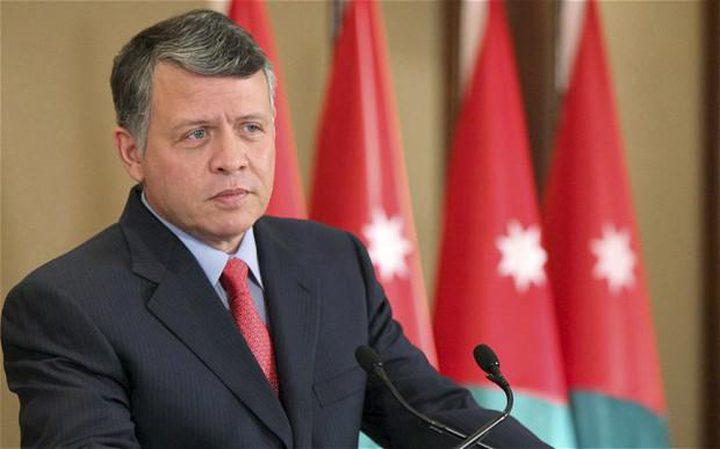 العاهل الأردني : سنواصل الدفاع عن القضية الفلسطينية