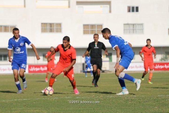 مباراتان متكافئتان في الجولة الثامنة من الدوري الممتاز بغزة