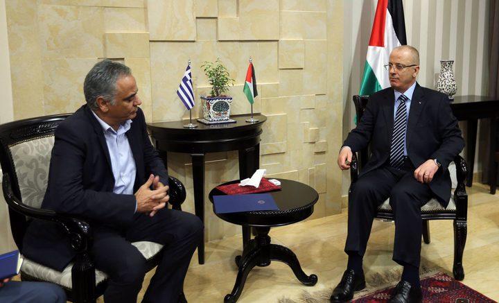 الحمد الله يطالب اليونان الاعتراف بالدولة الفلسطينية