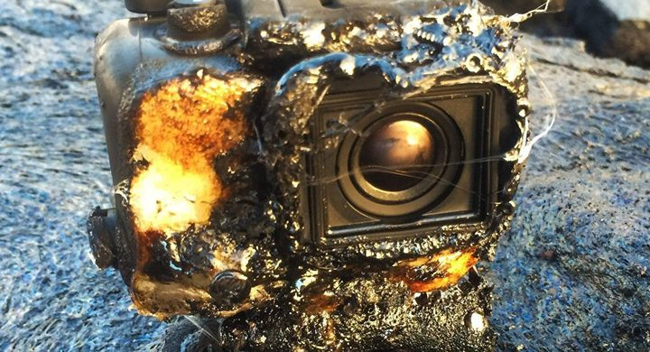 مصور ينجح في الحصول على فيديو لبركان ثائر