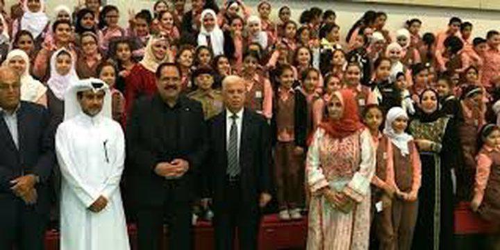 صيدم يتفقد المدرسة الفلسطينية في قطر