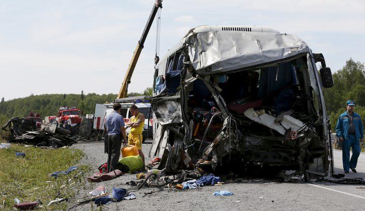 مصرع 9 أشخاص وإصابة 23 في حادث سير بروسيا