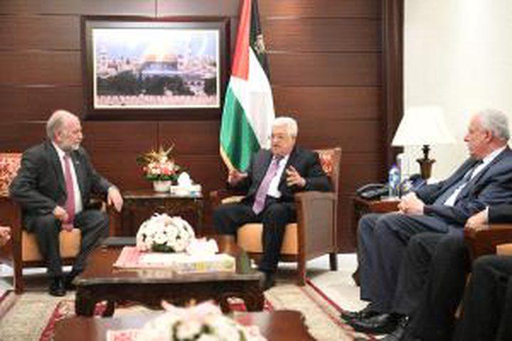 الرئيس يستقبل وفداً من اتحاد الفيدراليات الفلسطينية