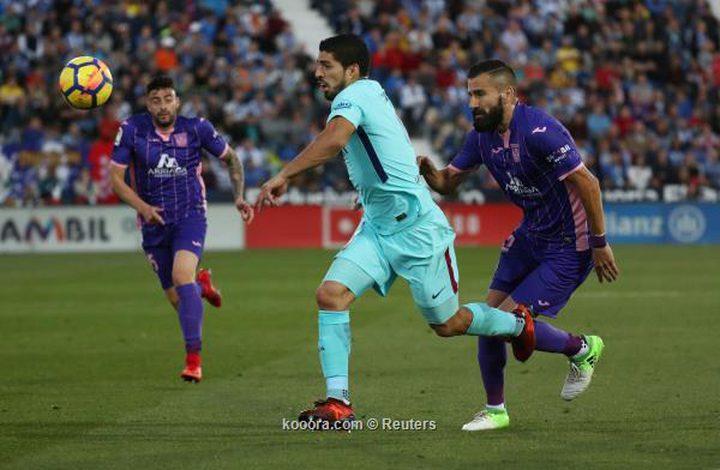 برشلونة يعبر ليجانيس بثلاثية.. وسواريز يعود للتهديف