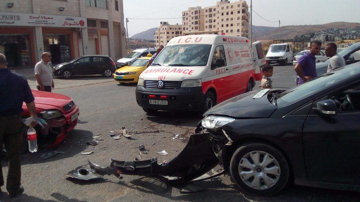 أربع إصابات في حادثي سير منفصلين في نابلس