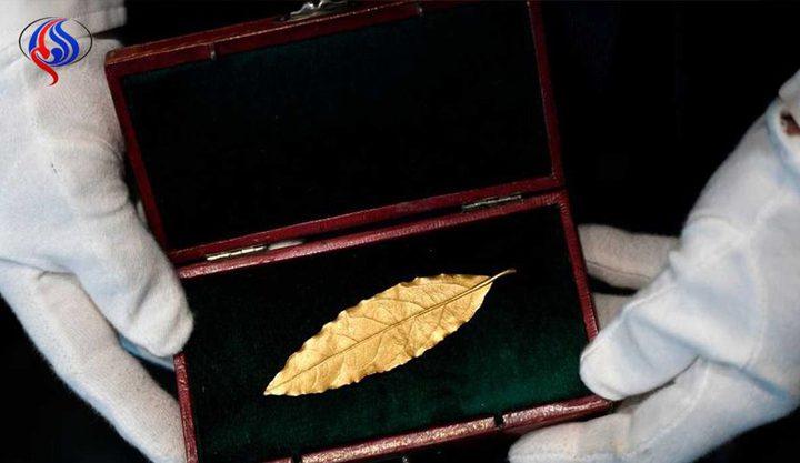 بيع ورقة غار من تاج نابليون بأكثر من نصف مليون دولار