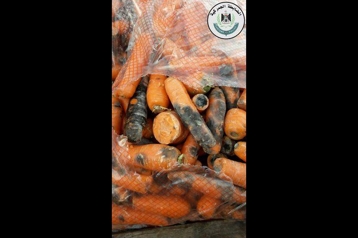 ضبط جزر تالف ومواد غذائية منتهية الصلاحية