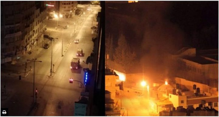 إصابة شابين وإحراق مركبة للمستوطنين بنابلس