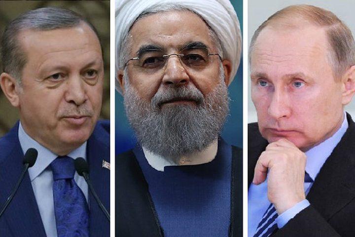 بوتين وروحاني وأردوغان يتفقون على إطلاق حوار سوري شامل لحل الأزمة في البلاد