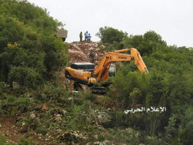 الاحتلال يقتلع أشجار السنديان بموازاة السياج التقني