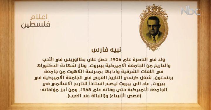 من أعلام فلسطين: نبيه فارس