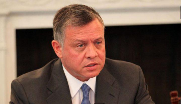العاهل الأردني يؤكد على أهمية تحريك عملية السلام استنادا إلى حل الدولتين