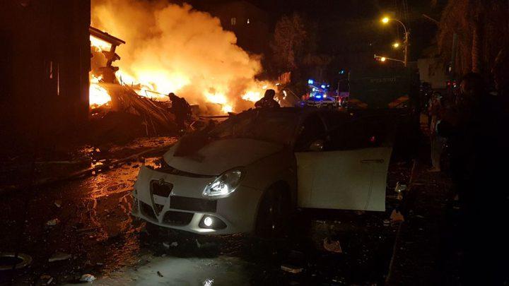 تحقيقات أولية بحادث الإنفجار في يافا
