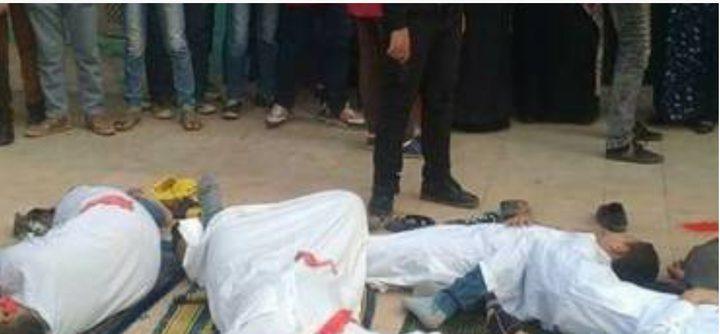 """ضجّة في مصر.... تلامذة يؤدّون أدوار الضحايا والقتلة بواقعة تفجير""""الروضة"""" (صور)"""