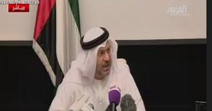 قرقاش: كل التقدير للجهود المصرية المخلصة لإنجاح المصالحة الفلسطينية
