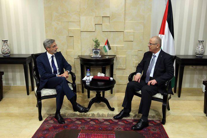 الحمد الله يبحث مع القنصل الفرنسي آخر التطورات على صعيد القدس