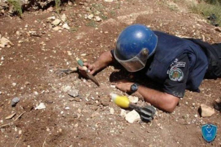 إتلاف 6 أجسام مشبوهة بالقرب من بلدة عرابة بجنين