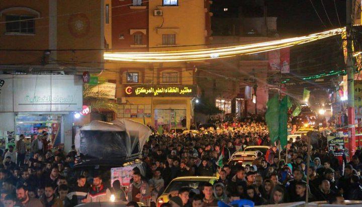 حماس خلال مسيرات في غزة.. قرار ترامب سيفتح أبواب جهنم على المصالحة الأمريكية في المنطقة