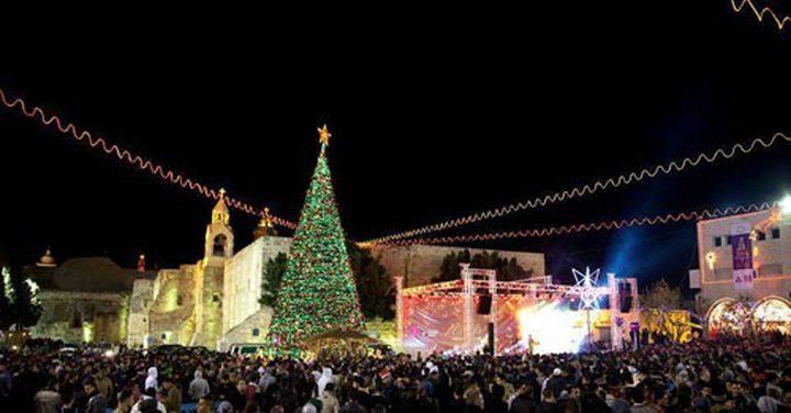 إطفاء شجرتي الميلاد في رام الله وبيت لحم تنديدا بقرار ترامب