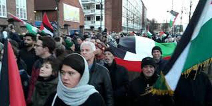 اعتصام في كوبنهاجن أمام سفارة الولايات المتحدة استنكارا لسياستها
