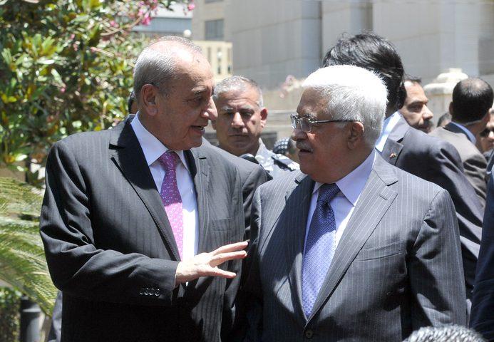 الرئيس بري يتصل بالرئيس عباس: قرار ترامب احتلال جديد لا يقل عن احتلال 48