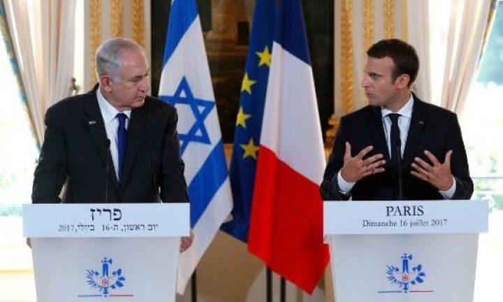 نتنياهو لماكرون: القدس عاصمة إسرائيل كما باريس عاصمة فرنسا