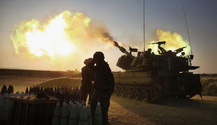 """الاحتلال يستهدف """"مكب النفايات"""" وسط القطاع بقذائف المدفعية"""
