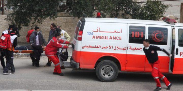 إصابة فتاة إثر حادث في نابلس