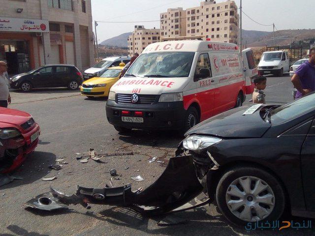 إصابة مواطنين في نابلس
