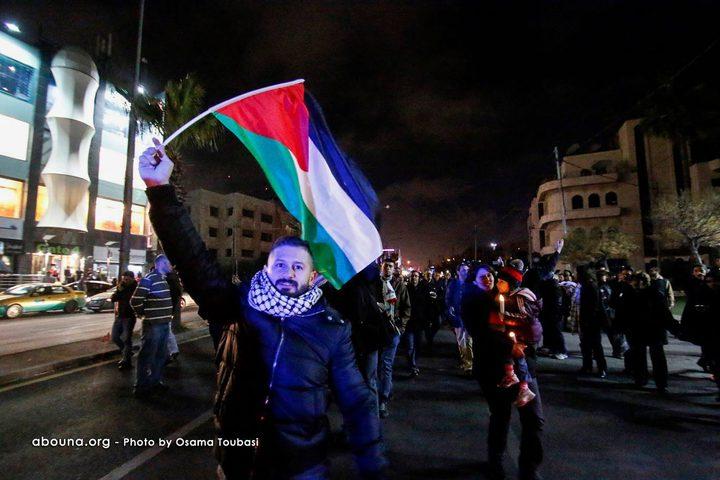 مسيرة شموع صامتة ضد قرار ترامب في الأردن