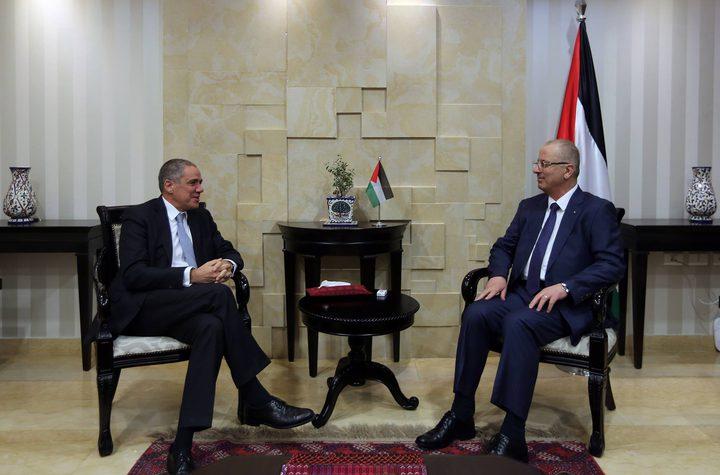 الحمد الله يبحث مع ممثل الاتحاد الأوروبي لدى فلسطين آخر التطورات