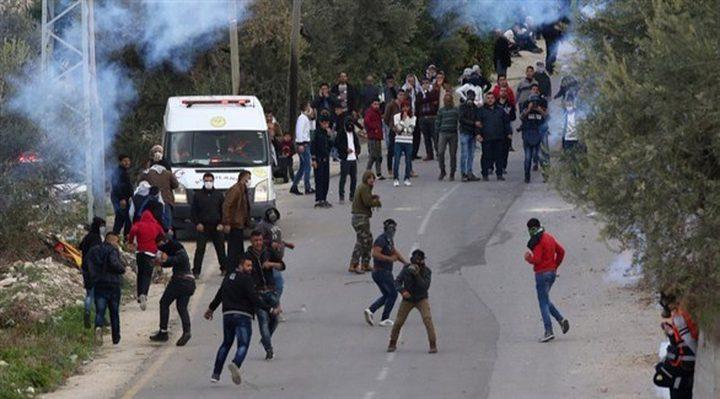 مواجهات مع الاحتلال في بلدة حلحول