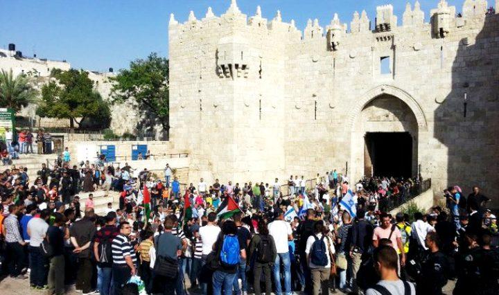 القدس: إصابة فتاة وصحفي واعتقال ناشط خلال قمع الاحتلال لوقفة احتجاجية
