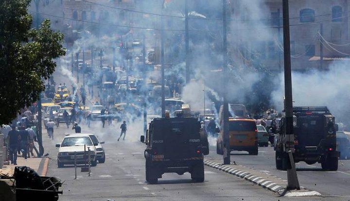 إصابات بالاختناق في مواجهات مع الاحتلال جنوب الخليل
