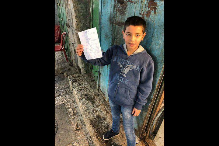 مخابرات الاحتلال تستدعي طفلا للتحقيق(صورة)