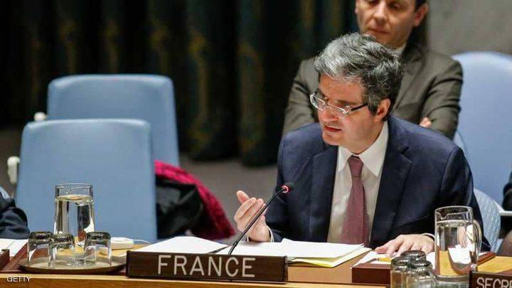 فرنسا تدعم المسودة المصرية في مجلس الأمن