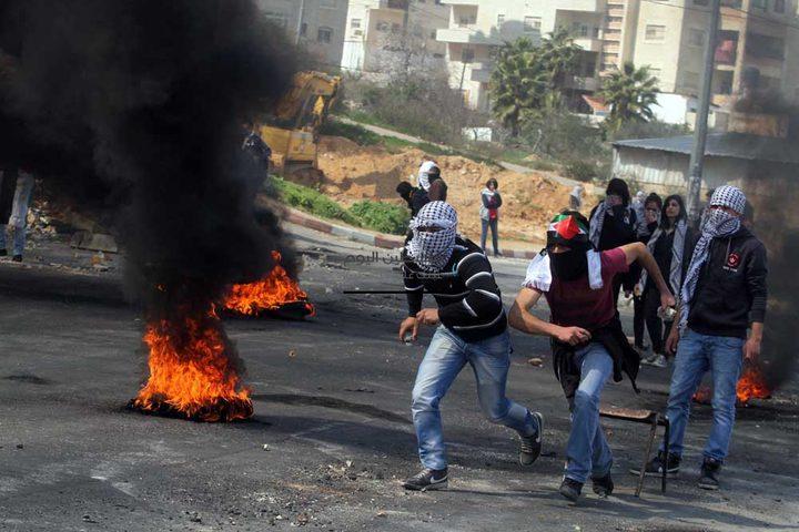 اندلاع مواجهات مع الاحتلال شرق نابلس