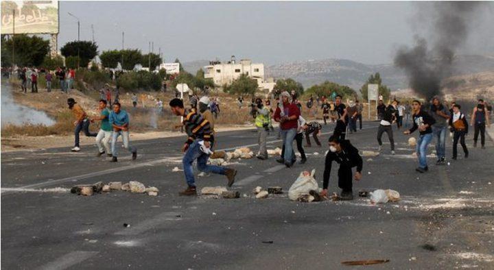 إصابتان بالرصاص المعدني في مواجهات مع جيش الاحتلال بقلقيلية