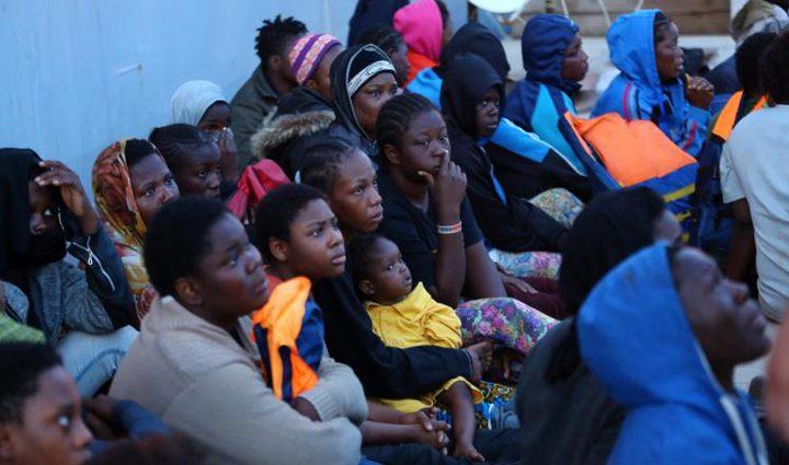 خطة لنقل عشرة آلاف مهاجر من ليبيا