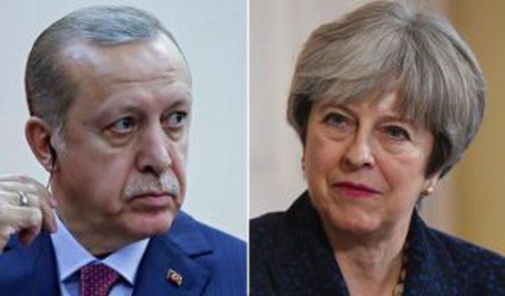 أردوغان وماي يتفقان على تكثيف الجهود لحلّ قضية القدس