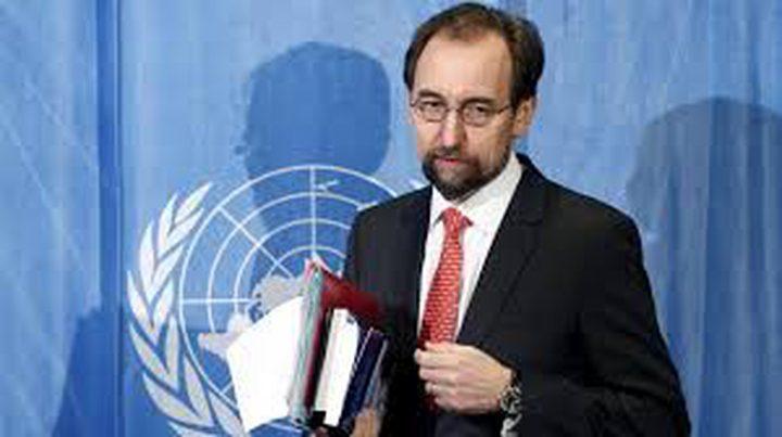 المفوض الأممي لحقوق الإنسان يدين إطلاق إسرائيل النار على فلسطيني مقعد