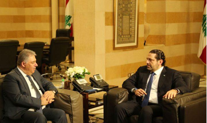 دبور يبحث مع الحريري أوضاع أبناء شعبنا في لبنان