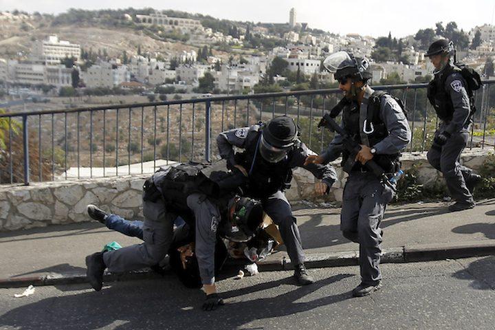 اعتقال شاب خلال مواجهات مع الاحتلال على مدخل أريحا الجنوبي