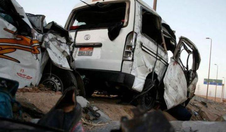 مقتل 13 شخصا في حادث سير في مصر